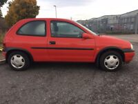 1999 VAUXHALL CORSA 1.0 CLUB 3 DR HATCHBACK LOW MILEAGE NEW M.O.T