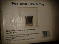 Fireplace surround, tray and hearth panel, boxed
