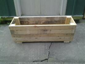 Handmade wooden planter