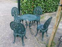 Brand new Aluminium Table and 4 Chairs (Full Set)