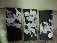 Fantastic set of 3 flower prints