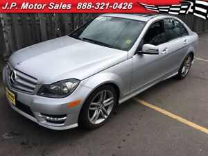 2013 Mercedes-Benz C-Class C300, Leather, Sunroof, AWD, Only 59,