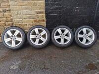 "Genuine 17"" Audi TT Mk2 Alloy Wheels & Tyres 5x112 (Fits VW Golf, A3, Skoda, Seat, etc.)"