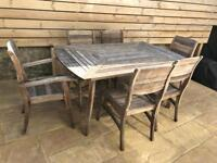 M&S Hardwood Table and 6 Chairs