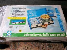 Camping gas hob and grill
