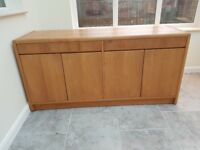 SOLD Sideboard finished in Teak- Scandinavian style