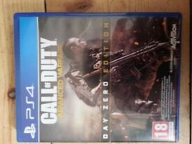 Ps4 game call of duty advanced warefare used condition