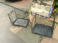 Dog cages x2 Small