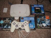 PLAYSTATION 1 WITH GAMES