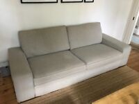 Light Grey Ikea Kivik 3 Seater Sofa