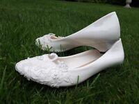 Bridal lacey shoes