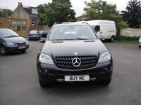 LHD LEFT HAND DRIVE MERCEDES ML280CDI AUTO 2007 METALLIC BLACK/BEIGE LEATHER,SAT NAV,AIRCON ETC