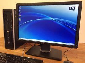 VERY FAST HP 8200 Elite /intel i3 3.10Ghz / 8 GB Ram / 500 GB + Dell Wide Screen Desktop Computer