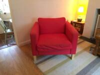 Ikea red chair Karlstad