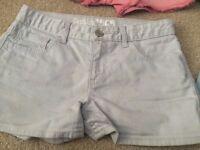 Girls shorts - 2 x 10 years, 1 x 11 years, 2 x 12 years