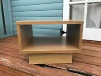 Low bedside table/lamp table