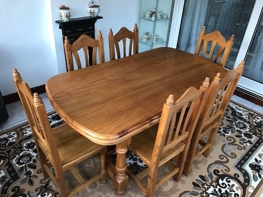 Dining Set Extending Table and 6 chairsin Lewisham, LondonGumtree - Beautiful Dining Set Extending Table and 6 chairs. very good condition. L x W x H 160cm x 90cm x 81cm without extension 203cm x 90cm x 81cm with one extension 249cm x 90cm x 81cm with two extension Collection from Catford SE6 or can deliver it for...