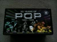Boxed Pop CDs 1960 - 1989
