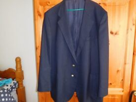"Men's Marks and Spencer Navy Blue Blazer New to fit up to 50"" Chest"