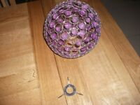 Lamp shade with purple stones