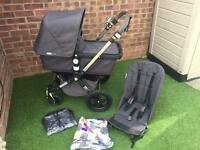 Bugaboo Cameleon 3 limited edition Henley with additional Andy Warhol Globetrotter Hood-VGC