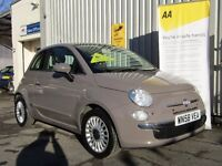 Fiat 500 1.4 16v Lounge 3dr, Parking Aid Front/Rear, 100BHP