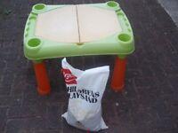Sand Pit Play Table + Bag Play Sand - MAKE AN OFFER!