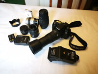 Samsung GX10 DSLR Camera With Assorted Lenses/Kit