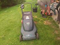 large powerful 3 in 1 electric lawnmower w bagger