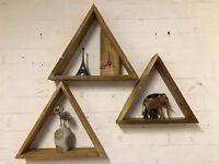 Geometrical Triangle Shelfs