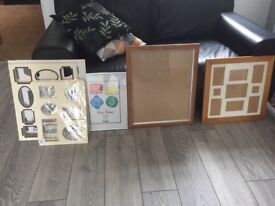 Various wooden picture frames