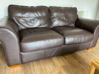Comfy brown sofa