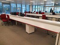 White 4-pod office desks £99 per desk