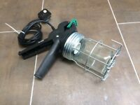 Mains-powered inspection lamp (no bulb) - used.