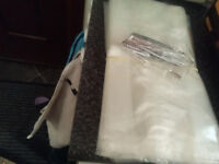 70 x 12x 6 clear cellophane gusset bags with silver ties