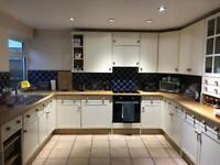 Kitchen units with wooden tops