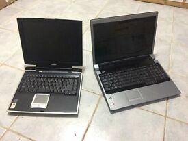 2 Laptops 1 x Dell Studio 1737 & 1 x Toshiba Satellite Pro A10 spare or repair