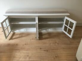 Hall cupboard, shoe cupboard, window seat, ottoman