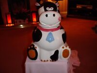 Brand new - Mr. Moo ceramic cookie jar - a fun container for storing biscuits - 32.5 cm tall