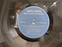 Simple Minds vinyl album.