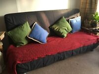 IKEA 3 seater sofa bed underneath storage