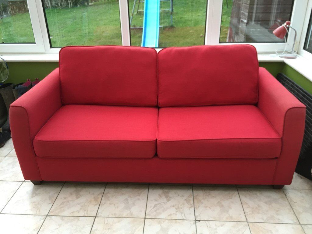 Cool Dante Red Fabric Large 2 Seater Sofa Bed With Dark Feet From Debenhams In Lindfield West Sussex Gumtree Alphanode Cool Chair Designs And Ideas Alphanodeonline