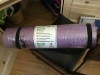 Yoga mat plus socks and carry strap. NEW