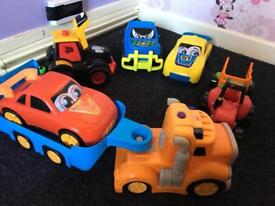 Toy cars Tractor /talks lorry flashes all in good condition collection millbrook