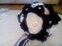 Artificial bride & bridesmaid bouquets