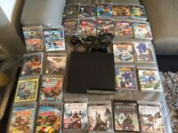 PS3 320gb with 1 controller and 26 excellent games!!! All in good working condition.