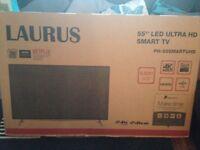 "55"" Laurus led UHD 4K still boxed"