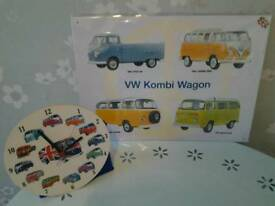 Vw vans new plaque and cool clock man cave
