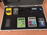 Bass effects pedals and Kinsman case