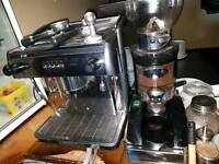 Coffee Machine/Grinder & Job lot of accessories